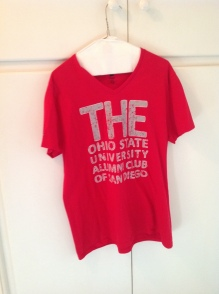 "red OSU ""the"" T-shirt"